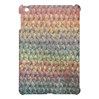 Multicolored striped knitted crochet iPad mini cases