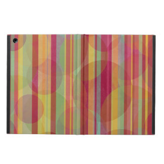 Multicolored stripes and circles case for iPad air