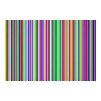 Multicolored Stripes Photo Print