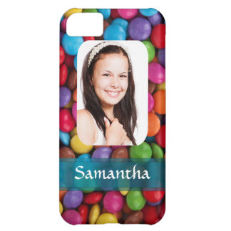 Multicolored sweets photo template iPhone 5C case