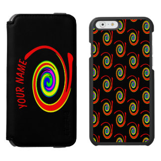 Multicolored swirl. Add your text. Incipio Watson™ iPhone 6 Wallet Case