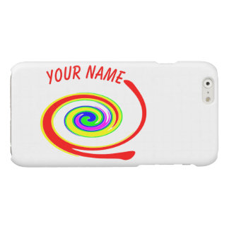 Multicolored swirl. Add your text. iPhone 6 Plus Case