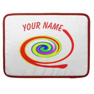 Multicolored swirl. Add your text. Sleeve For MacBooks