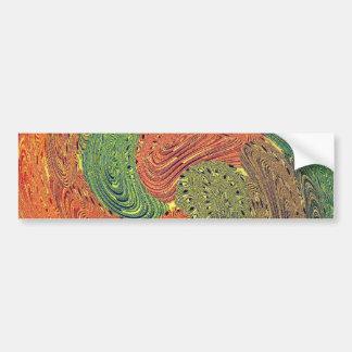 Multicolored Swirl Elegant Design Bumper Sticker