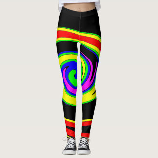 Multicolored swirl leggings