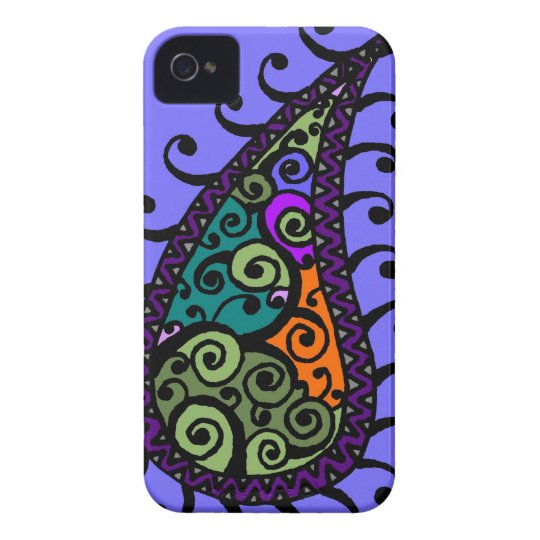 Multicolored swirl paisley iPhone 4 Case-Mate cases