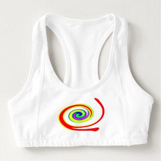 Multicolored swirl sports bra