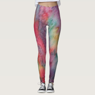 Multicolored Tie Dye Leggings
