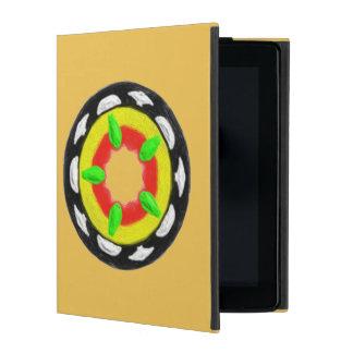 Multicolored trendy abstract pattern iPad folio case