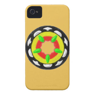 Multicolored trendy abstract pattern iPhone 4 Case-Mate case