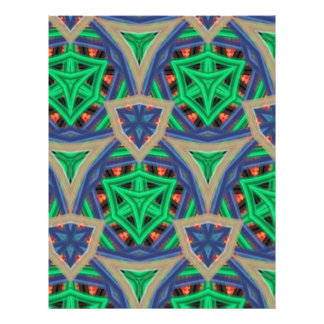 multicolored trendy pattern flyers