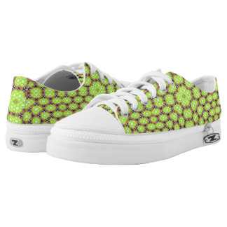 Multicolored trendy pattern low tops