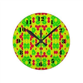 Multicolored trendy stylish pattern clock