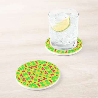 Multicolored trendy stylish pattern coaster