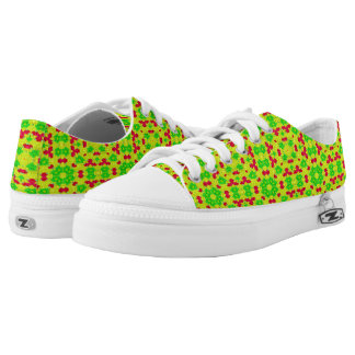 Multicolored trendy stylish pattern low tops