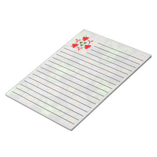 Multicolored trendy unique pattern notepad