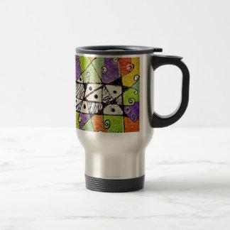 Multicolored Tribal Print Abstract Art Mug