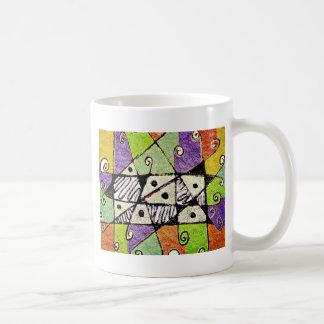 Multicolored Tribal Print Abstract Art Coffee Mug