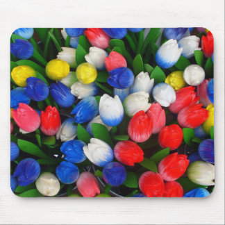 Multicolored tulips mouse mat