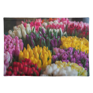 Multicolored Tulips Placemat