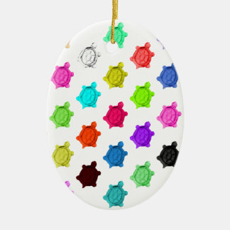Multicolored Turtle Pattern Christmas Ornament