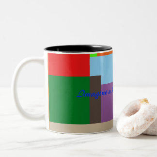 Multicolored Two-Ton Mug