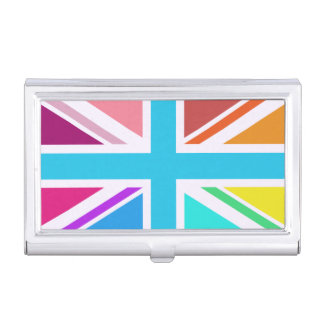 Multicolored Union Jack/Flag Design Business Card Holder