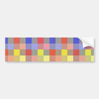 Multicolored Vintage Square. Geometric Pattern Bumper Stickers