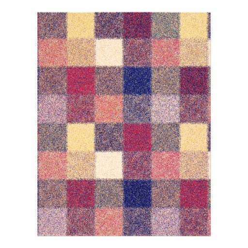 Multicolored Vintage Square. Geometric Pattern Flyer Design