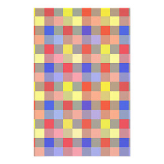 Multicolored Vintage Square. Geometric Pattern Flyers