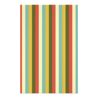 Multicolored Vintage Stripes Pattern Flyer Design