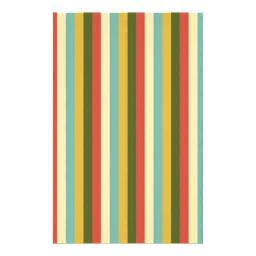 Multicolored Vintage Stripes Pattern Flyer Design