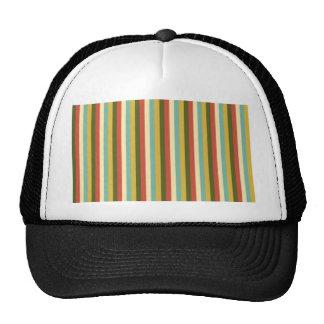 Multicolored Vintage Stripes Pattern Mesh Hat