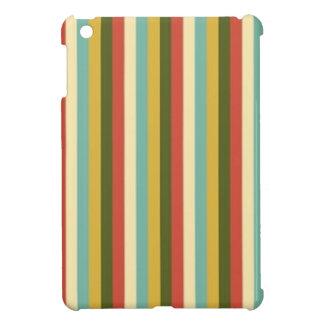 Multicolored Vintage Stripes Pattern iPad Mini Case