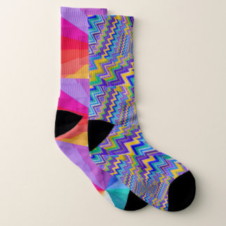 multicolored vortex All-Over-Print Socks, Large 1