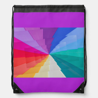 multicolored vortex on Drawstring Backpack