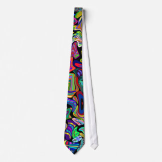 Multicolored Warped Look Tie Customizable