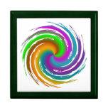 Multicolored wave boîtes à bijoux