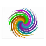 Multicolored wave carte postale