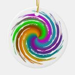 Multicolored wave ornement de noël