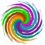 Multicolored wave photo sculpture
