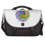 Multicolored wave sacoches ordinateur portable