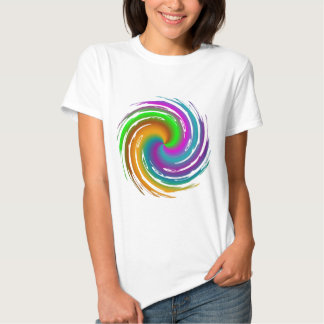 Multicolored wave t shirts