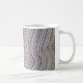 multicolored waves basic white mug