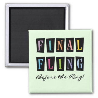 Multicolors Fling Before the Ring T-shirts Fridge Magnets