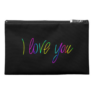 Multicolors I Love You Travel Accessory Bag