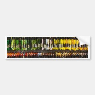 Multicolour Abstract Weave Bumper Stickers