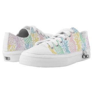 Multicolour coloured pineapples printed shoes