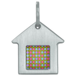 Multicolour Honeycomb Create You Own Pet Tag