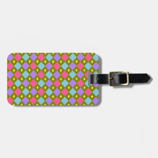 Multicolour Honeycomb Create Your Own Custom Lugga Luggage Tag